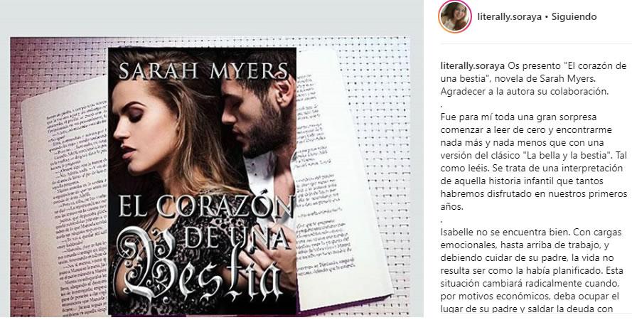Sarah Myers - El corazon de una bestia Testimonio